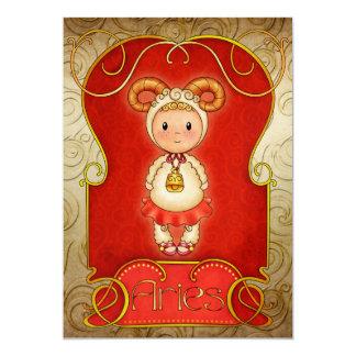Aries Birthday 2 - SRF 5x7 Paper Invitation Card