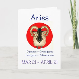 Aries Birthday Card card