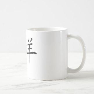 Aries Chinese Symbol Classic White Coffee Mug