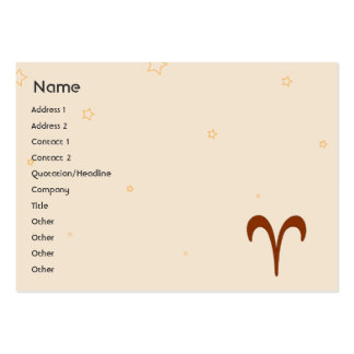 Aries - Chubby Large Business Card
