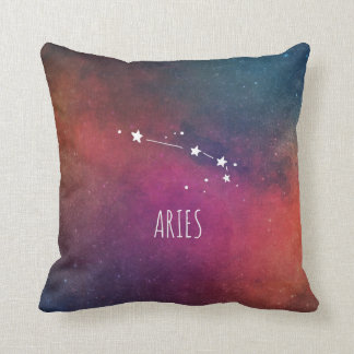 Aries Constellation Astrology Throw Pillow