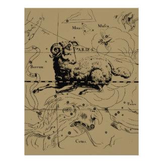 Aries Constellation Hevelius 1690 March 21 - Apr19 Flyer Design