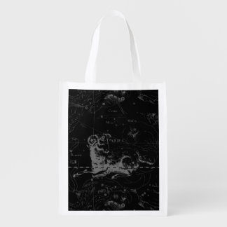 Aries Constellation Hevelius 1690 March 21 - Apr19 Reusable Grocery Bag