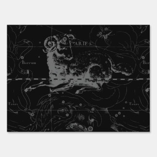 Aries Constellation Map Engraving by Hevelius Yard Sign