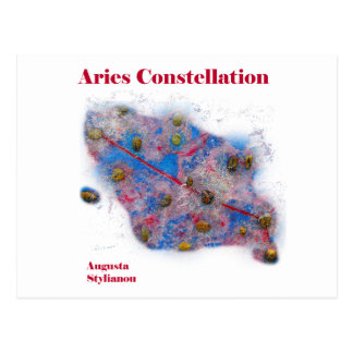 Aries Constellation Post Card
