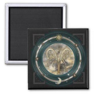 Aries Custom Color Square Magnet