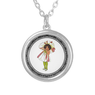 Aries Daisy Round Pendant Necklace