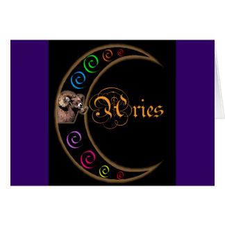 Aries de la luna de Celestrial Tarjeta De Felicitación