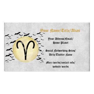 Aries de la luna del palo tarjetas de visita