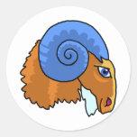 Aries de la muestra del zodiaco etiquetas redondas