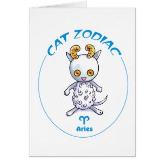 Aries de los gatos del zodiaco tarjeta pequeña