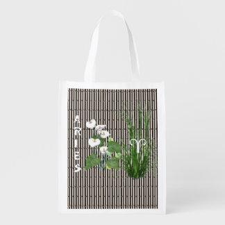 Aries del bambú y del lirio bolsa de la compra