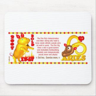 Aries del cerdo del fuego del zodiaco de Valxart l Tapete De Raton