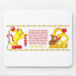 Aries del mono del fuego del zodiaco de ValxArt ll Alfombrilla De Ratón