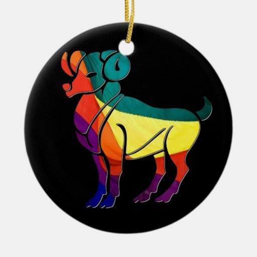 Aries del orgullo gay adorno de navidad