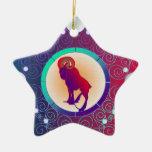 Aries del ornamento de la muestra de la estrella ornamento para arbol de navidad