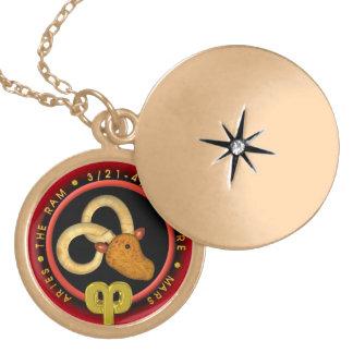 Aries del zodiaco de la serpiente de madera 2025 pendiente