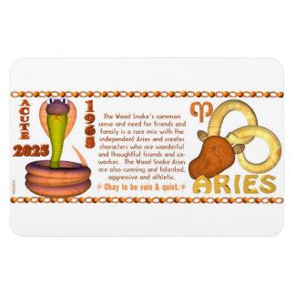 Aries del zodiaco de la serpiente de madera 2025 d iman flexible