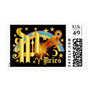 Aries-Design Font-2-P Postage Stamps
