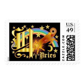Aries-Design Font-2-Q Stamp