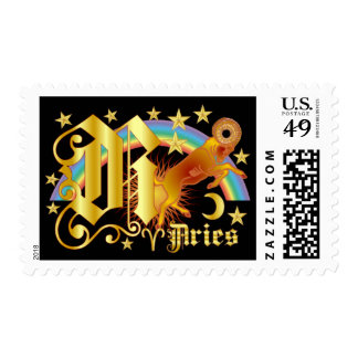 Aries-Design Font-2-R Postage