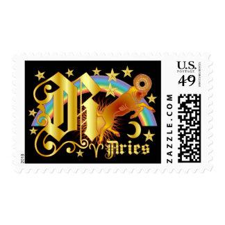 Aries-Diseño Font-2-R Estampilla