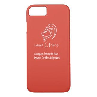Aries el rojo de la fiesta de la muestra del funda iPhone 7