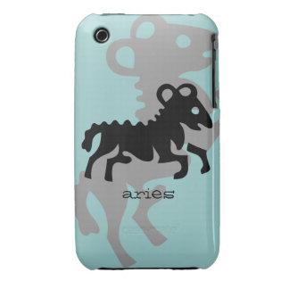 Aries en negro funda para iPhone 3