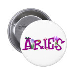 Aries Flowers Button