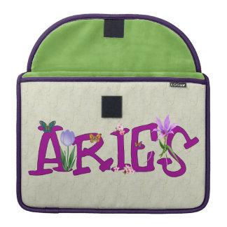 Aries Flowers MacBook Pro Sleeves