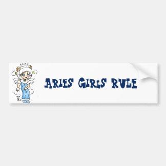 aries girls rule bumper sticker