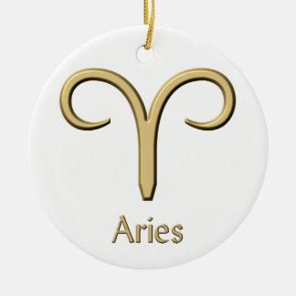 Aries gold symbol ornament