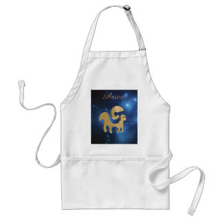 Aries golden sign adult apron