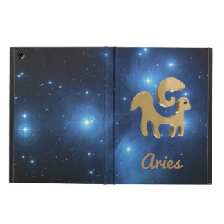 Aries golden sign cover for iPad air