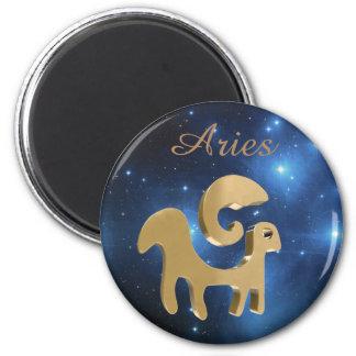 Aries golden sign magnet
