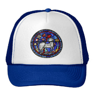 Aries Gothic Stained Glass Windows Trucker Hat