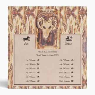 Aries Greek Zodiac Prim. Astrology Birth Chart Med 3 Ring Binder