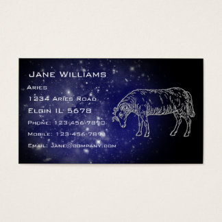 Aries Horoscope Business Card
