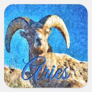 Aries Horoscope Sign Ram Stickers