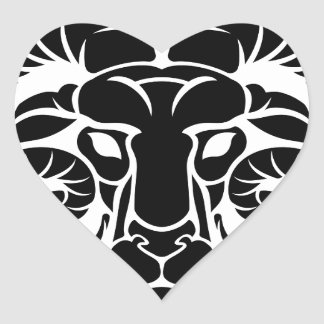 Aries Horoscope Zodiac Sign Heart Sticker