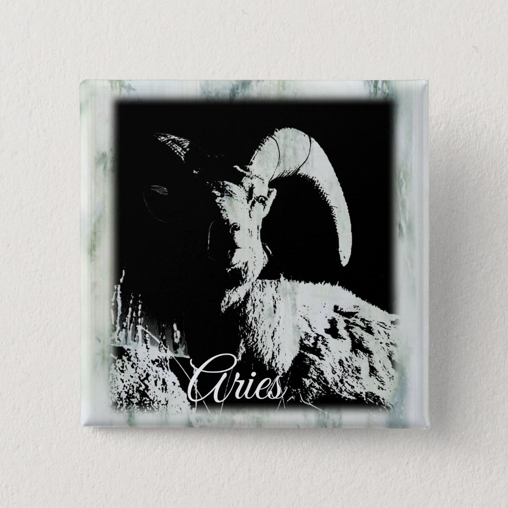 Aries Horoscope Zodiac Sign Ram Button