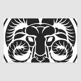 Aries Horoscope Zodiac Sign Rectangular Sticker