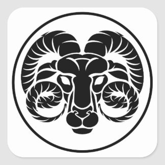 Aries Horoscope Zodiac Sign Square Sticker