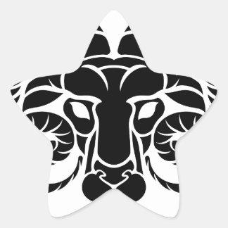 Aries Horoscope Zodiac Sign Star Sticker