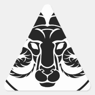 Aries Horoscope Zodiac Sign Triangle Sticker