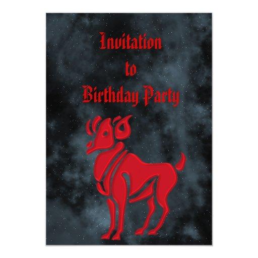 """Aries Invitación 5"""" X 7"""""""