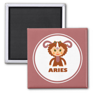 Aries is my Zodiac Sign 2 Inch Square Magnet
