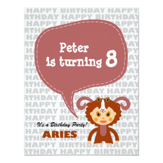 Aries Kids Party Invitation
