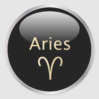 Aries la astrología del espolón, pegatinas de la etiquetas redondas