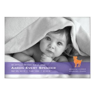 Aries la tarjeta de la invitación del nacimiento
